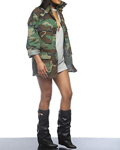 Camo Casual Militare Cappotti Giacca Zixing Donna Camuffamento wgYtqY4x7A