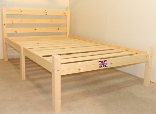 wood bed frame king. Kingsize 5ft HEAVY DUTY Wooden Frame With Extra Wide Base Slats And Centre Rail - VERY Wood Bed King