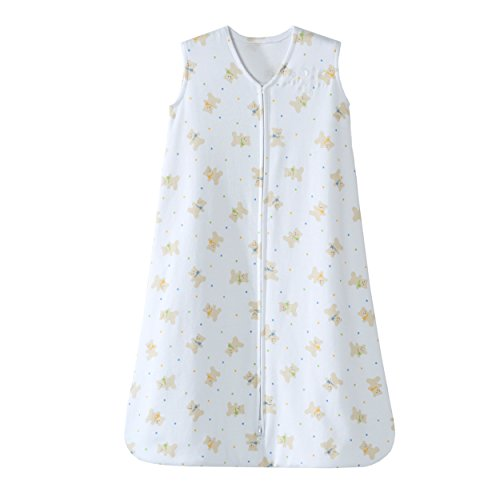 Halo SleepSack Cotton Wearable Blanket, Teddy Bear, Medium