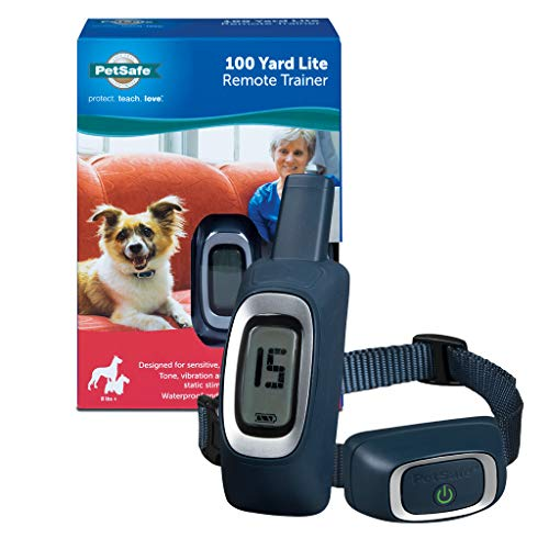 PetSafe 100 Yard Lite Remote Trainer, Rechargeable, Waterproof, Tone / Vibration / 15 Levels of Lighter Static Stimulation for Sensitive or Small Dogs 8 lb. and Up