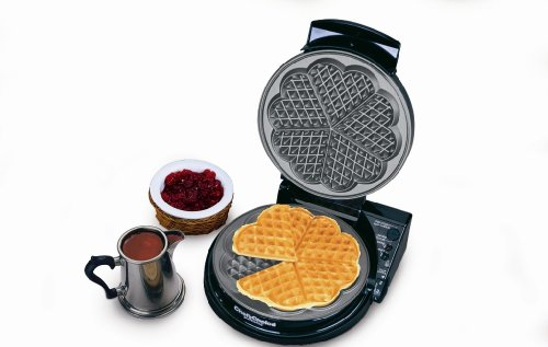 Chef'sChoice 830-SE WafflePro Taste and Texture Traditional Five-of-Hearts Nonstick Waffle Maker Easy to Clean Instant Temperature Recovery, 5-Slice, Silver by Chef'sChoice (Image #1)