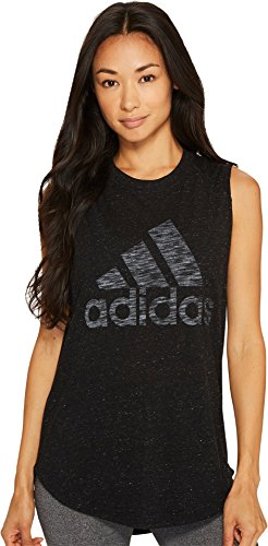Adidas Yoga Top - adidas Womens Athletics Graphic Drop Hem Muscle Tee, Black, X-Small