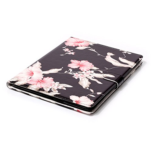 iPad 2/3/4 Case, Dteck(TM) Slim Flip PU Leather Wallet Case with Card Slots/Money Pouch Kickstand iPad Case Magnetic Closure Shell Full Body Protective Case Cover for Apple iPad 2 3 4,Pink Floral by Dteck (Image #4)
