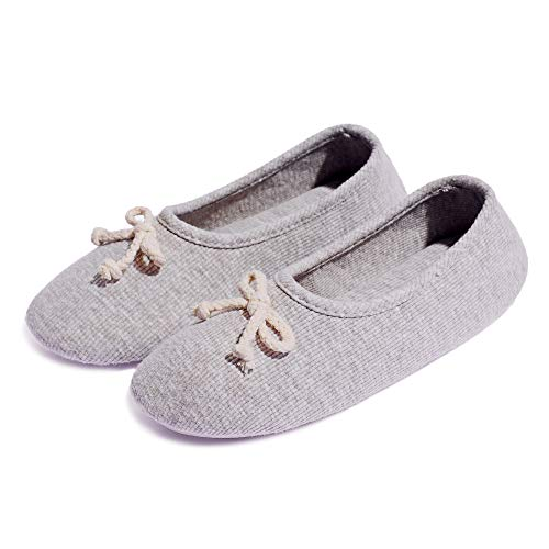 bestfur Women's Warm Cozy Plush Elegant Knitted Cotton Soft House Slippers Indoor Shoes