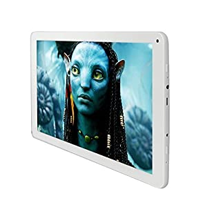 Yuntab 10.1 inch 8GB Android Tablet PC, Android 4.4 OS, Quad Core CPU, Dual Cameras, 5 Point Capacitive Touch Screen (White)