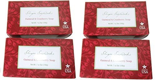 all-natural-shugar-soapworks-oatmeal-cranberry-soap-made-in-usa-7-oz-bar-4-pack