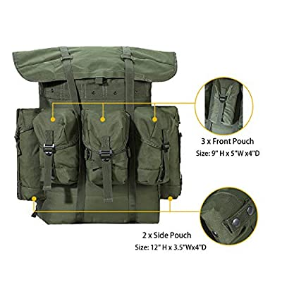 MT Military Surplus Rucksack Alice Pack Army Survival Combat Field Backpack with Frame