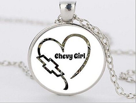 Chevy girl inspired necklace Chevrolet (Chevy Charm)