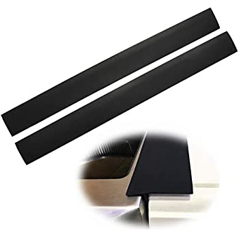 Silicone Stove Counter Gap Cover Kitchen Counter Gap Filler by Kindga 25'' Long Gap Filler Sealing Spills Between Kitchen Appliances Washing Machine and Stovetop, Set of 2(Black) ...