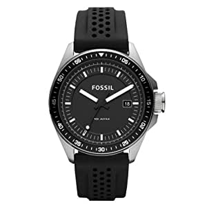 Fossil AM4384 Decker Silicone Watch, Black