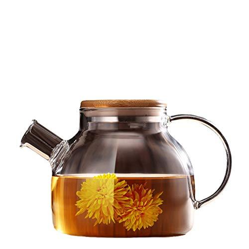 Glass Tea Set Elegant Cup Teapot High Temperature Thickening Teapot Stainless Steel Filter Leak Office Tea Ceremony Pot Household Kettle Tea Pots (Capacity : A)