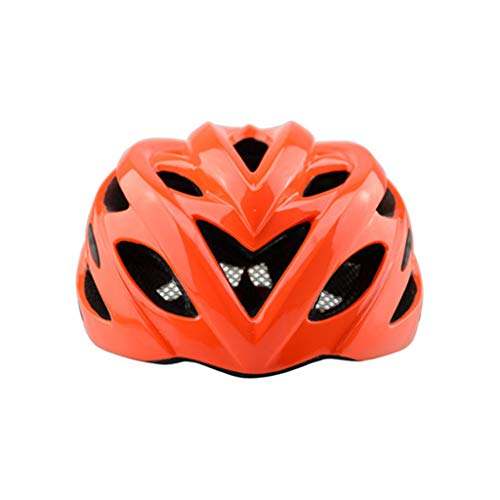 ZPF Cycling Equipment Helmet Adult Road Cycling Mountain Bike Ultra Light Safety Helmet Suitable for Head Circumference 57-61cm (Color : Fluorescent Orange)
