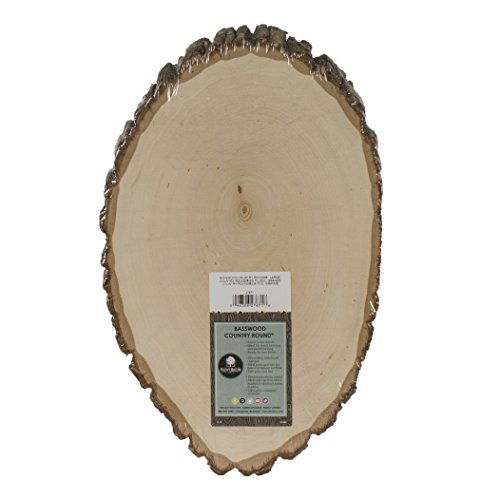 Walnut Package - Walnut Hollow Basswood Country Round, Large for Woodburning, Home Decor and Rustic Weddings