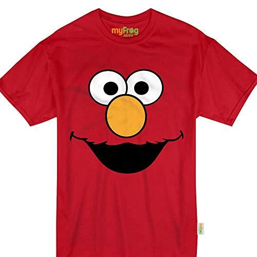Red Puppet Face Elmo Halloween Monster Costume Kids