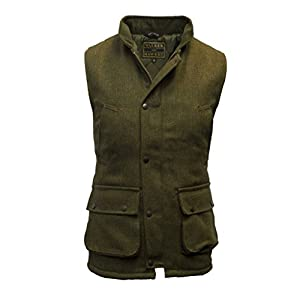 Walker & Hawkes – Mens Derby Tweed Shooting Waistcoat Country Gilet – Dark Sage