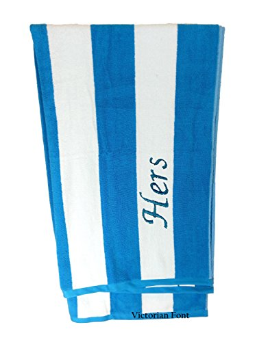 byLora Premium Personalized Striped Cabana Beach Towel 35