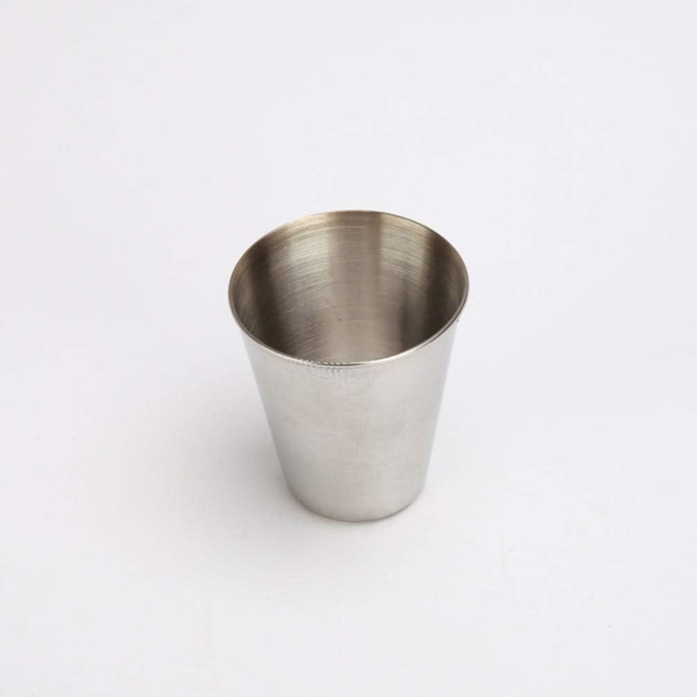 NUOBESTY 12 piezas de vasos de chupito de acero inoxidable salsa platos cuencos vasos vasos para beber vajilla 30 ml