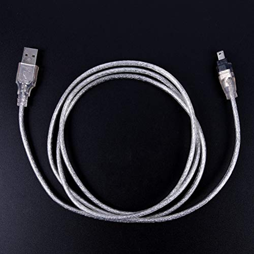 1394 To Usb - Data Transfer Cable Silver Speed 1.2m 4ft Usb 2.0 Male To 4 Pin Fire Wire Ieee 1394 Lead Extension - Wire Cable Converter Fire Drive Hard Flash 1394 Pins Ieee Adapter Fireproof Sti ()