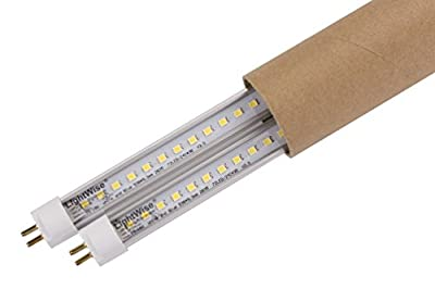 LightWise LWL18T523W27 White LED 18Watts Tube with 2' T5 and 2700K Retrofit for F24T5HO 2Ft T5 Fluo. Tube,More Lux and Energy Saving. 1 2 4 5 8 12 16 20 Pack Available.