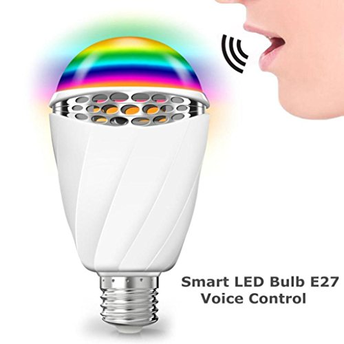 Price comparison product image Dreamyth Voice Control E27 Smart LED Adjustable Dimmable Light Decorative Bulb (White)