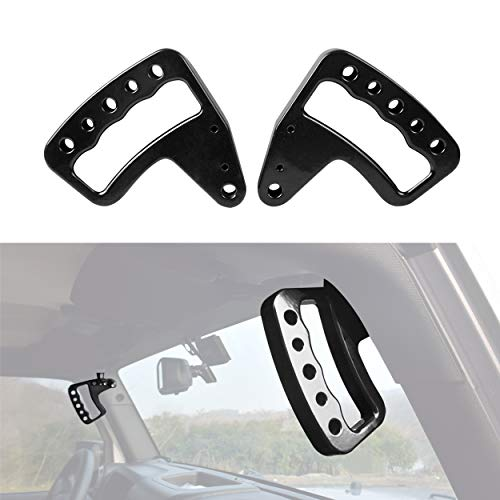 2007 Round Head Nails - Allinoneparts Front Black Aluminum Grab Handle for Jeep Wrangler JK JKU 2007-2018