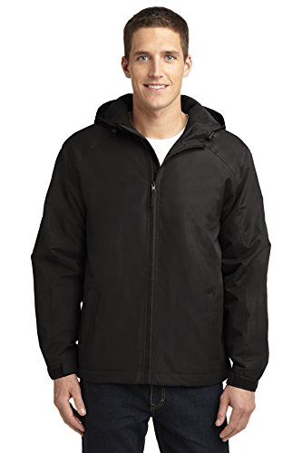 (Port Authority Men's Port Authority Hooded Charger Jacket. J327 XL True Black )