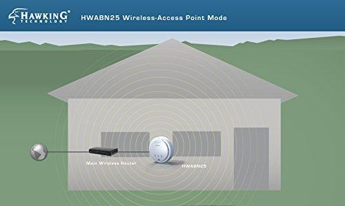 Hawking Technology Hi-Gain Wireless-300N Multifunction Access Point, Bridge, Repeater and Range Extender w/PoE Support (HWABN25) by Hawking Technology (Image #1)