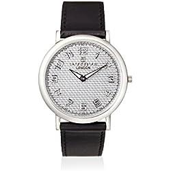 Tateossian Men's WA0032 Black/Silver Leather Watch