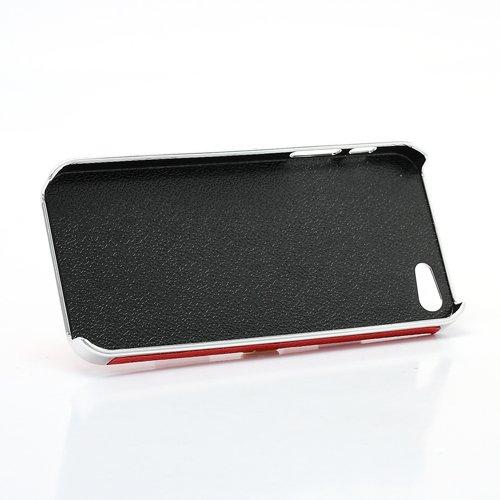 """iProtect Premium Schutzhülle / Case / Cover / Hardcase / Hard Skin für das iPhone 5 in der """"Pyramid Cross Leather Edition"""" - punkiges Design und garantierter Hingucker mit aufgesetzten Nieten / Spikes"""