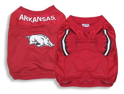 Dog Baseball Player Costume (Sporty K9 Collegiate Arkansas Razorbacks Football Dog Jersey, X-Small)