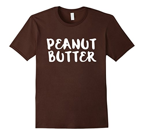 [Mens Peanut Butter Easy Halloween Costume T-Shirt Large Brown] (Easy Halloween Costumes T Shirt)