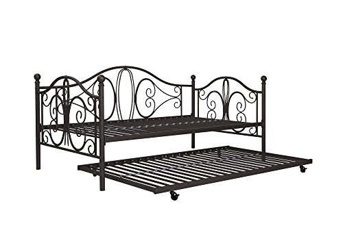 (DHP Twin Metal Daybed and Roll Out Trundle Combo, Bronze Finish)