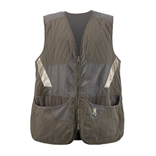Browning Mens Vest - Browning Men's Summit Vest, Green/Dark Grey, X-Large