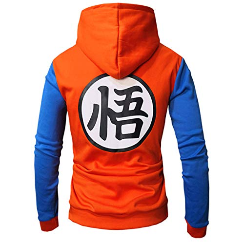 Ball À Bomber zip amp;bleu Plein Manches Dragon Capuchon Longues Hommes Veste Varsity Pull Chenma Orange Goku qzIxE