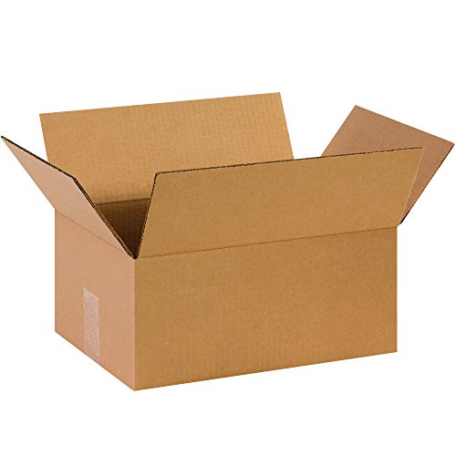 BOX USA B14106100PK Corrugated Boxes, 14'' L x 10'' W x 6'' H, Kraft (Pack of 100) by BOX USA