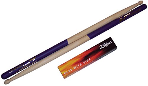 (Zildjian Purple DIP Drumsticks Wood Super 5A)
