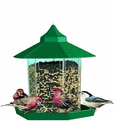 Gazebo Squirrel Proof Wild Bird Feeder Hanging Seed Outdoor Garden Wildlife