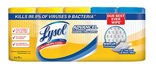 An item of Lysol Advanced Cleaning Disinfecting Wipes Variety Pack, 5 pk./72 ct.