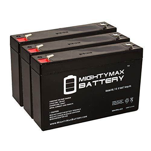 6 V 7 Ah交換用バッテリーEmpire Scientific # sla7 – 6 – 3パック – Mighty Maxバッテリーブランド製品