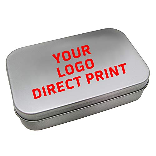 Mint Tins Personalized with Your Message, Logo, Art or Design. 100 Count, Wholesale Bulk Promotional Business Giveaways