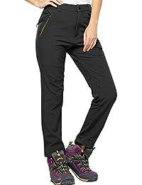 Women's Fleece Snow Ski Hiking Pants Outdoor Water-Resistant Windproof Trousers