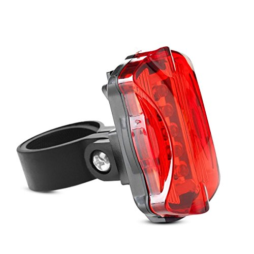 Bike Tail Light 5 LEDs 6 Modes Bicycle Back Light Flashing Safety Warning Lamp for Outdoor