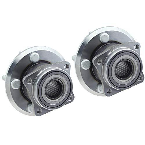 590002 Pair Rear Wheel Bearing and Hub Assembly Left & Right for Pontiac Vibe Matrix AWD 4-Wheel ABS ()