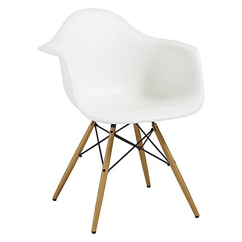 Fine Mmilo Dining Chairs Eiffel Inspired Contemporary Plastic Seat Solid Wooden Legs Polypropylene White 64X61X81 Cm Bralicious Painted Fabric Chair Ideas Braliciousco