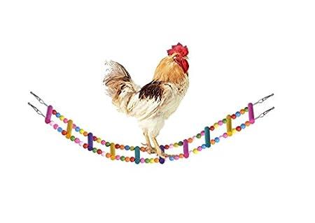 Bwogue Échelle flexible en bois, jouet pour animaux, perroquets et poulets