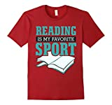 Mens Reading Is My Favorite Sport Funny T-Shirt XL Cranberry