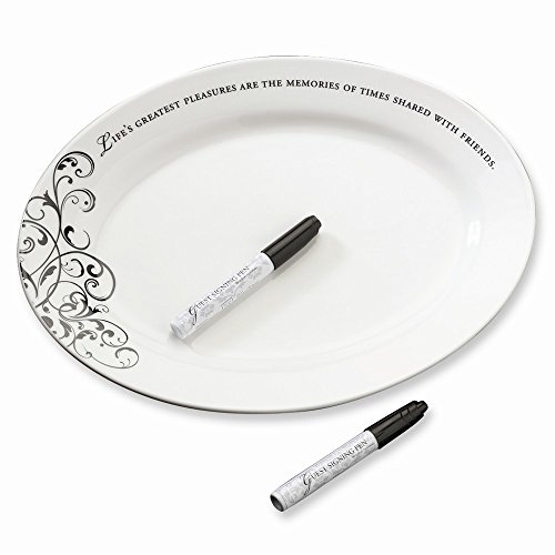 Best Birthday Gift Oval Signing Plate Wedding Keepsake by Jewelry Brothers Gifts
