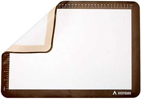 Avery Barn 2 Pack BPA Free Silicone Baking with Free Fat Reducer Baking Mat Sheets FBA/_avery-020-1