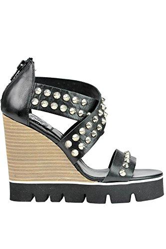 OXS Zapatos de Vestir de Otra Piel Para Mujer Negro Negro