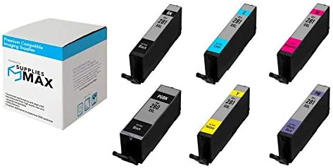 SuppliesMAX Compatible Replacement for Canon PIXMA TS-8120//8220//8320//9120 Super High Yield Inkjet Combo Pack PGI-280//CLI-281PBMP 2-BK//1-C//M//Y//PB